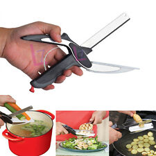 Pro Clever Cutter 2-in-1 Food Kitchen Knife & Cutting Board Scissors Home Tool