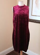 New Forever 21 Plus Pink Crushed Velvet Tunic Dress Sz 2X 2XL Goth Witchy NWT