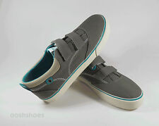 Startrite Boys Dinghy Pewter Canvas Shoes UK 9.5 EU 27-28 US 10 Velcro RRP £24