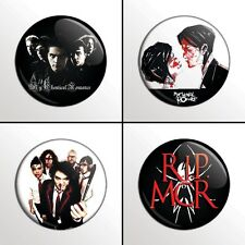 "4-Piece MY CHEMICAL ROMANCE (MCR Set 2) 1"" Pinback Band Buttons / Pins / Badges"