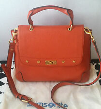 Authentic MCM First Lady Orange Medium Shoulder Tote bag in women's purse