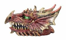 Red Western Dragon Head Jewelry Box Organizer Casket Dark Legend Home Decor Gift