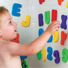 36Pcs Kids Safety Bath Educational Learning Letter Numbers stick bathroom Toys