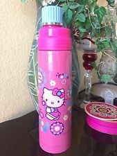 NEW Sanrio Hello Kitty Stainless Steel Bottle Thermos Pink Flowers Blue