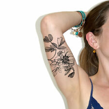 SHIP FROM NY - Temporary Tattoo - Large flower