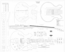 Gibson CS356® archtop Full scale Electric Guitar Plans - Actual Size
