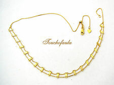 """14K Yellow Gold Adorable Necklace 16"""" or Choker with Adjustable Bead"""