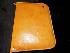 small vintage tan leather notepad organiser wallet possibly pigskin leather