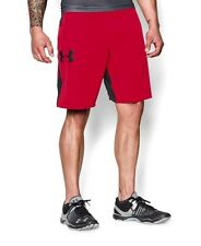 NWT Mens Under Armour 1253569 Red Black Combine Training Ascent MMA Shorts S
