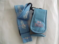 Lonsdale Neck Phone Pouch with Neck Strap Blue Pink