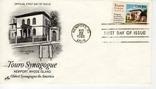 FDC - Touro Synagogue - Newport - Aug 22th - 1982 - Premier jour