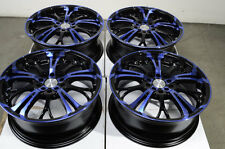 17 5x114.3 Blue Wheels Fits Prelude Mazda 3 6 RSX Camry Lancer Scion 5 Lug Rims