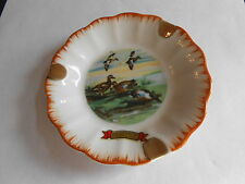 Cool Vintage Souvenir of Centralia IL Duck Motif China Ashtray Marked Japan