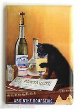 Absinthe Black Cat FRIDGE MAGNET (2 x 3 inches) bourgeois alcohol beer poster
