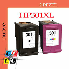 2 CARTUCCE COMPATIBILI HP 301 XL PER HP Deskjet 3057a 1010 Officejet 4630 4632