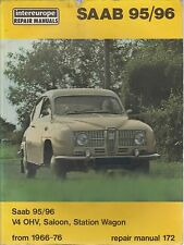 SAAB 95 96 & MONTE CARLO V4 SALOON / ESTATE 1966 - 1976 OWNERS WORKSHOP MANUAL