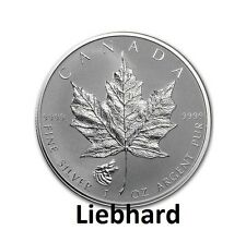 5$ Kanada / Canada Silber / Silver Maple Leaf 2016 1 OZ  Privy Wolf