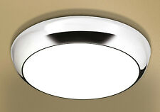 HiB Kinetic LED illuminated Circular Light Chrome IP44 with Diffused Shade 0670
