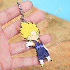 Dragon Ball Z Vegito Goku Vegeta Super Saiyan PVC Figure Key Ring Chain Keychain