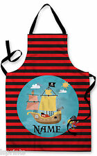 PERSONALISED PIRATE CHILDRENS APRON BAKING PAINTING WATER PLAY ARTS & CRAFTS