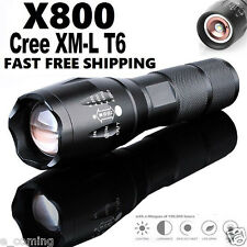 BRIGHT X800 Tactical Flashlight Cree LED Military Lumens Alonefire ShadowHawk