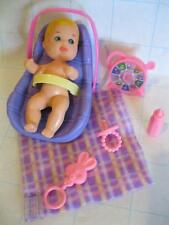 Barbie Baby KRISSY crissy Blond HAIR boy/girl DOLL MINI TOYS Layette Bouncer