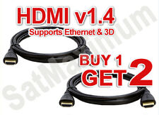 2x PREMIUM HDMI CABLE 6FT For BLURAY 3D DVD PS3 HDTV XBOX LCD HD TV 1080P USA