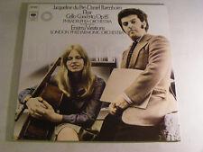 DU PRE BARENBOIM Elgar Cello Concerto Ex+ CBS 1980s LP