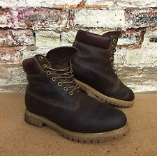 Timberland Mens Premium Leather Boots Brown size 10 Waterproof Earthkeepers 44.5