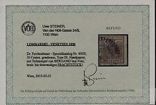LOMBARDEI-VENETIEN 1850 30C, GRAUBRAUN! BERGAMO, VÖB! PRACHTSTÜCK!