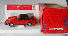 Porsche 911 Cabriolet Red Tonka Polistil 1/25 Scale Diecast Mint in Box