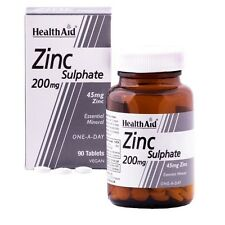 Health Aid sulfato de zinc 200MG - 90 Tabletas