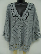 Plus Size 3X 4X CROCHETED Top Shirt Trendy Vest Shell Boho Cover-up Sweater  NWT