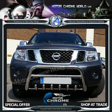 NISSAN NAVARA PATHFINDER D40 BULL BAR QUALITY CHROME AXLE NUDGE A-BAR 2010+Up