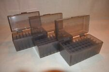 (3) .308 / 243 BERRY AMMO BOXES 50 RNDS OF STORAGE (SMOKE COLOR)
