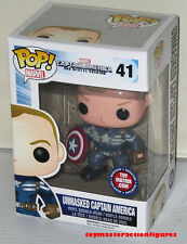 FUNKO 2014 POP MARVEL SDCC Exclusive UNMASKED CAPTAIN AMERICA #41 LE In Stock