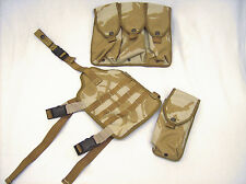 British military surplus UK Osprey PLCE desert DPM drop leg carrier/ mag pouches