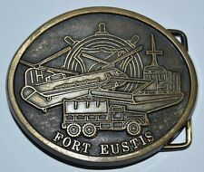 Nice Vintage ARMY Navy Airforce USA Fort Eustis Base Brass Belt Buckle Rare