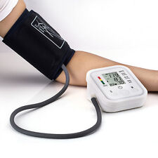 Digital LCD Arm Cuff White Blood Pressure Pulse Monitor Sphygmomanometer Gift US