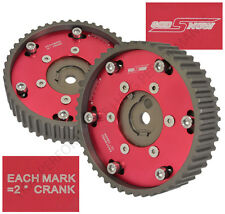 BMW E30 E36 328i PERFORMANCE RACE M20 ENGINE 2PC CAM GEAR PULLEY SPROCKET RED
