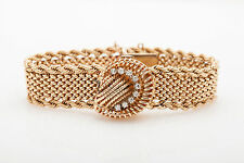 Vintage 1940s $5K COVERED 14k Yellow Gold .50ct VS Diamond MOP Ladies Watch WNTY