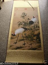 Chinese scroll painting,Home decoration, art, Crane scroll painting