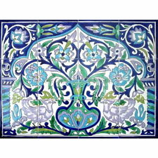 ARABESQUE KITCHEN BACKSPLASH - 24in x18in ANTIQUE LOOKING MOSAIC CERAMIC TILES