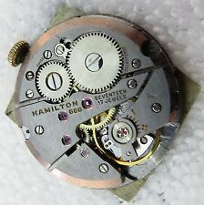"HAMILTON,17j,cal 686,""Manual Wind"" Barrel Dial"",RARE MOVEMENT,Running,M-08"