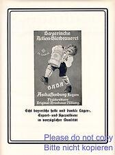 Baba Brauerei Aschaffenburg XL Reklame 1927 Bayerische Actien Bierbrauerei +