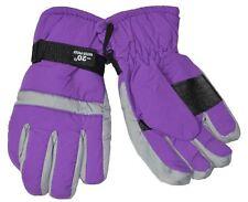 SW Women's Cold Weather Waterproof Gloves Purple Gray