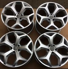 "SET OF FOUR 4 20"" x9.5"" 10.5"" for BMW X5 X6 35I 48I 50I WHEELS RIMS NEW Y SILVER"