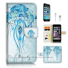iPhone 6 6S (4.7') Flip Wallet Case Cover P3199 Jelly Fish