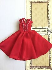 Doll DRESS - Tonner Ellowyne Wilde ~ Seeing Red Dress - holiday red white + flag