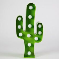 Green Cactus Shaped LED Light Bulb Wall / Freestanding Decoration / Night Light